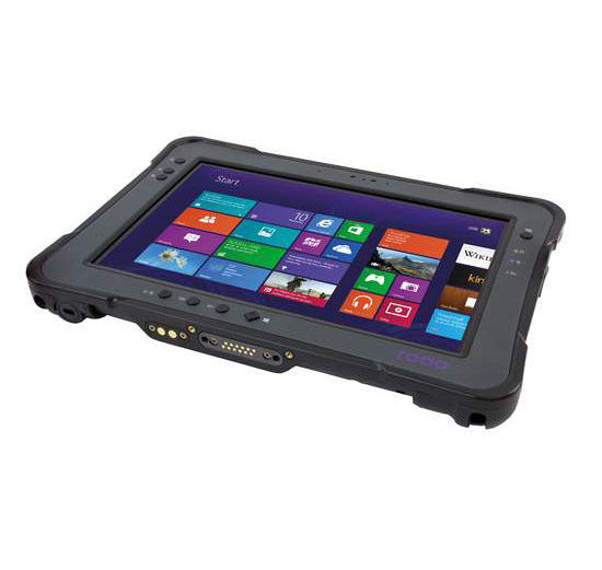 """Full-Ruggedized 10"""" Tablet PC The newest Windows SolidPad LR11 from roda comes up with a powerful Intel® CoreTM i5 in the 4th generation and a variety of useful interfaces. The fast processor is supported by 8 GB RAM and 256 GB hard disk capacity in fast SSD technology for an extremely quick boot up and best vibration characteristics. The sensitive 10.1"""" WUXGA LED display which can be operated also with gloves achieves at 1000 nits best sunlight readability! The interfaces are already quite exceptional and diverse in the standard version (e. g. USB 3.0, RS232) and can be expanded by many options (LTE, Smart Card Reader, Barcode Reader, etc.). Two durable standard batteries allow a """"hot-swapping"""", so the battery can be changed during operation. The SolidPad LR11 is IP65 and MIL-STD 810G certified. Great performance, good price and absolutely FULL RUGGED TABLET!"""